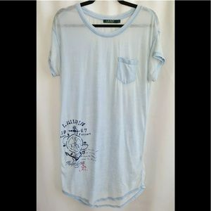 Ralph Lauren Thin Light Blue Nightgown Sleep Shirt
